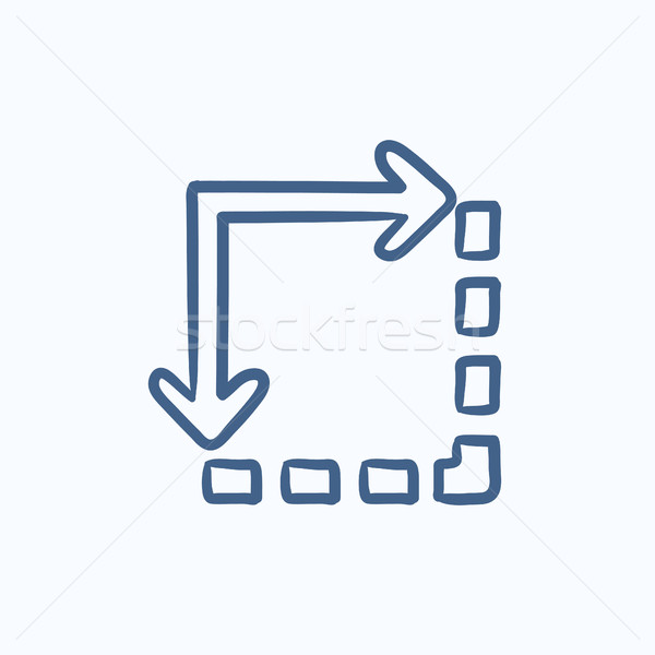 Content extension sketch icon. Stock photo © RAStudio