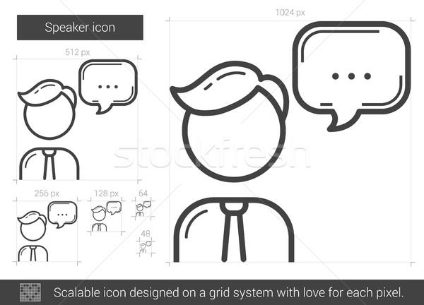 Speaker line icon. Stock photo © RAStudio