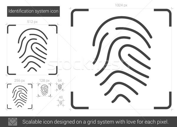 Identification system line icon. Stock photo © RAStudio