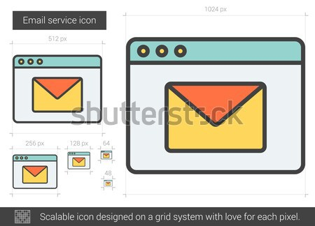 Email service line icon. Stock photo © RAStudio