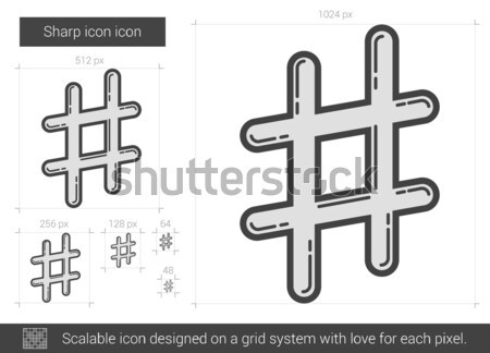 Sharp line icon. Stock photo © RAStudio
