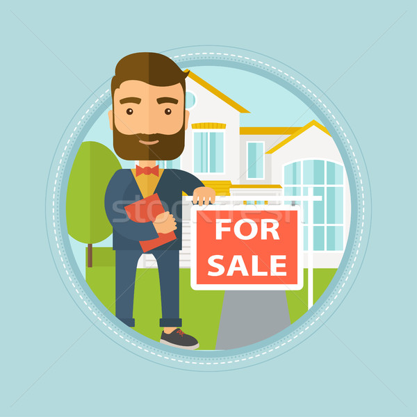 Real estate agent offering house. Stock photo © RAStudio