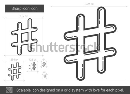 éles vonal ikon vektor izolált fehér Stock fotó © RAStudio