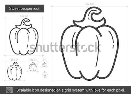 Sweet pepper line icon. Stock photo © RAStudio
