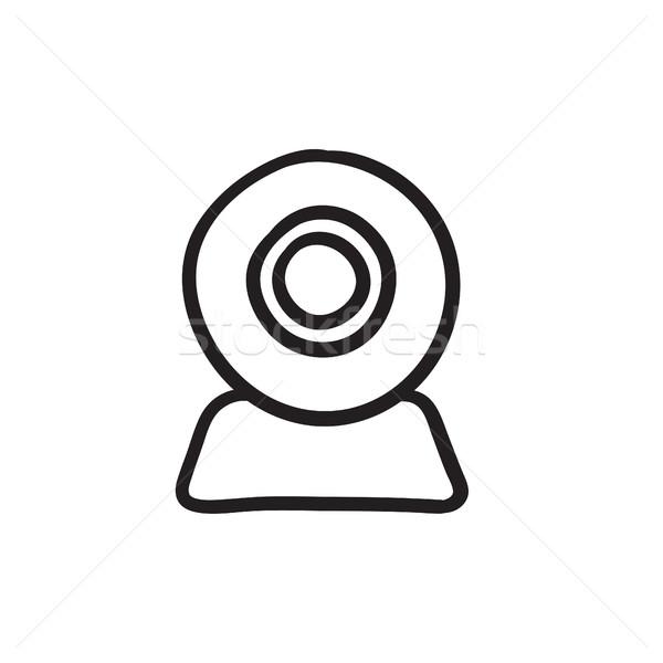 Web camera sketch icon. Stock photo © RAStudio
