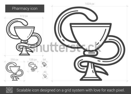 Apotheek lijn icon vector geïsoleerd witte Stockfoto © RAStudio