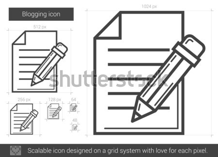 Post línea icono vector aislado blanco Foto stock © RAStudio