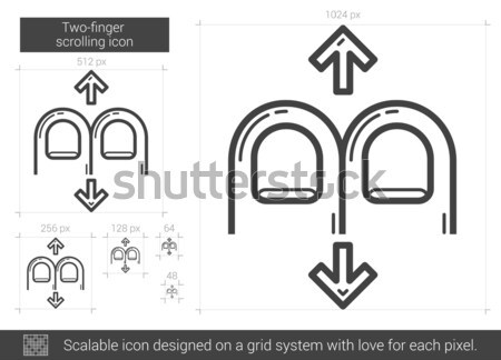 Two-finger scrolling line icon. Stock photo © RAStudio
