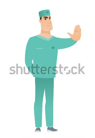 Young caucasian doctor laughing out loud. Stock photo © RAStudio