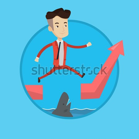 Business woman standing in sinking boat. Stock photo © RAStudio