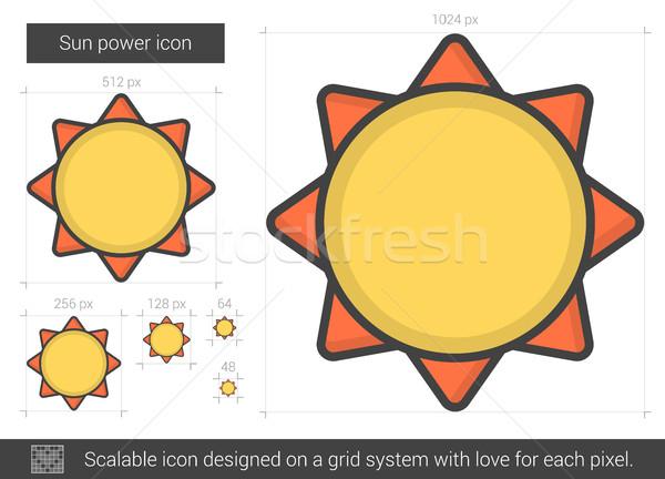Sun power line icon. Stock photo © RAStudio