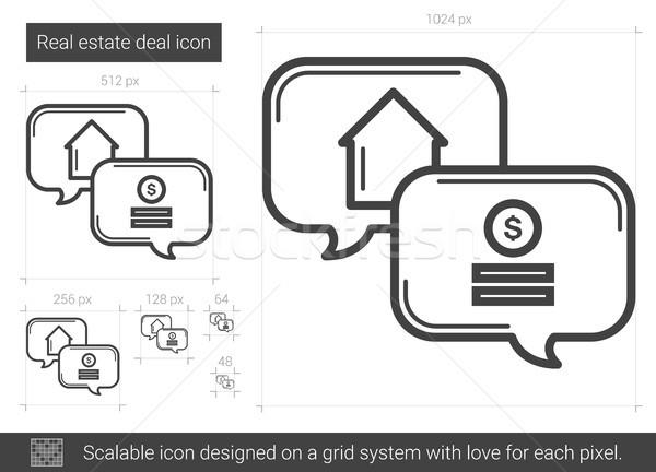 Real estate deal line icon. Stock photo © RAStudio