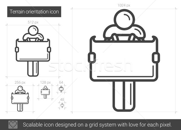 Terrain orientation line icon. Stock photo © RAStudio