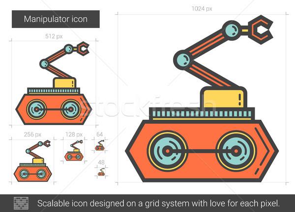 Manipulator line icon. Stock photo © RAStudio