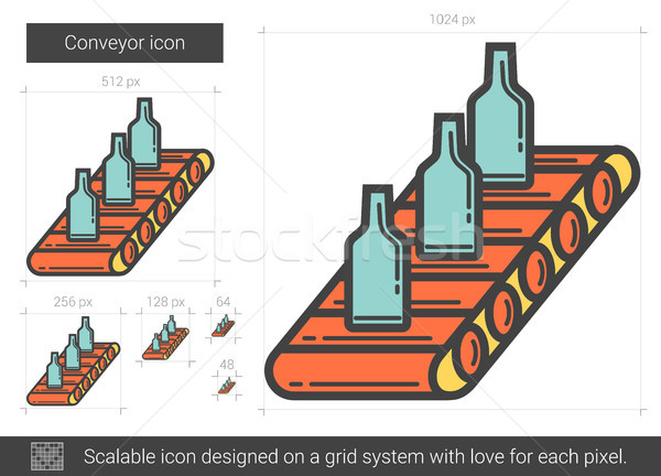 Conveyor line icon. Stock photo © RAStudio
