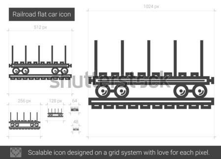 Ligne icône vecteur isolé blanche Photo stock © RAStudio
