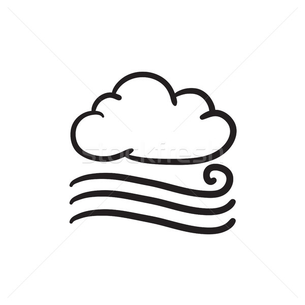 Windy cloud sketch icon. Stock photo © RAStudio