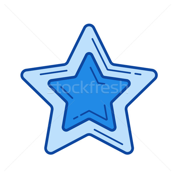Photo stock: Star · favori · ligne · icône · vecteur · isolé