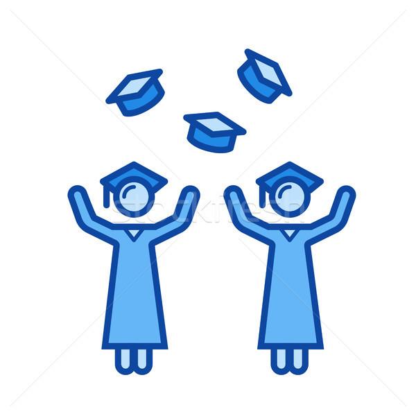 University graduation line icon. Stock photo © RAStudio