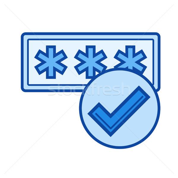 Wachtwoord bescherming lijn icon vector geïsoleerd Stockfoto © RAStudio