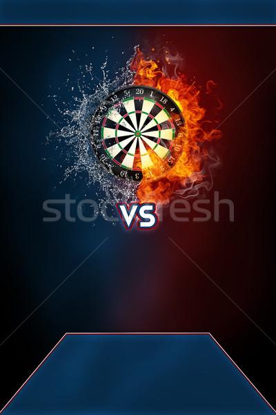 Dardos esportes torneio moderno cartaz modelo Foto stock © RAStudio