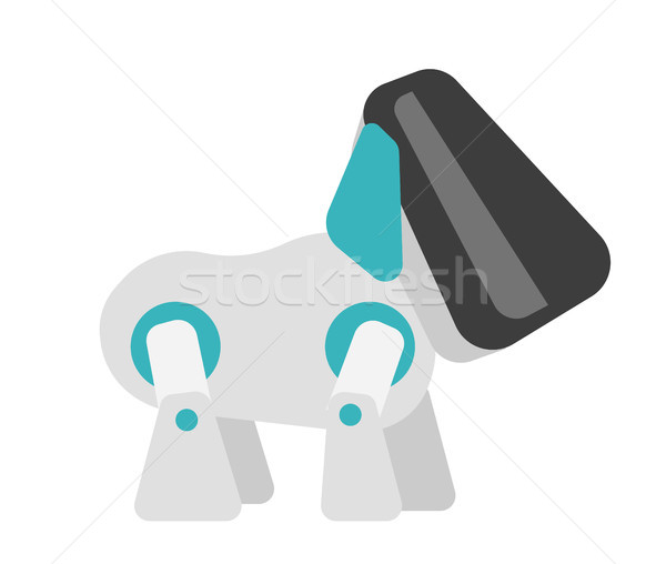 Cyber dog vector cartoon illustration. Stock photo © RAStudio