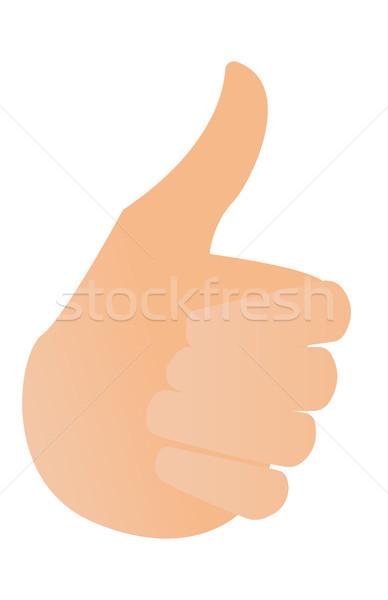 Menselijke hand duim omhoog vector cartoon illustratie Stockfoto © RAStudio
