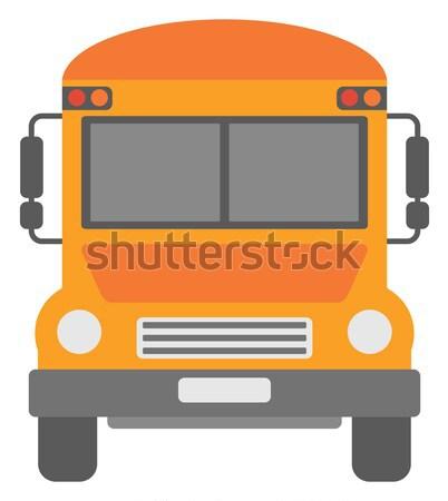 黄色 スクールバス ベクトル デザイン 実例 孤立した ストックフォト © RAStudio