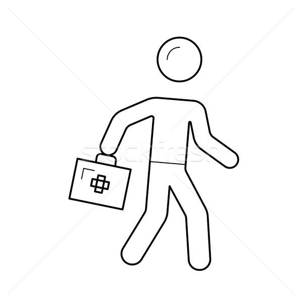 Emergencia atención línea icono rápido medicina Foto stock © RAStudio