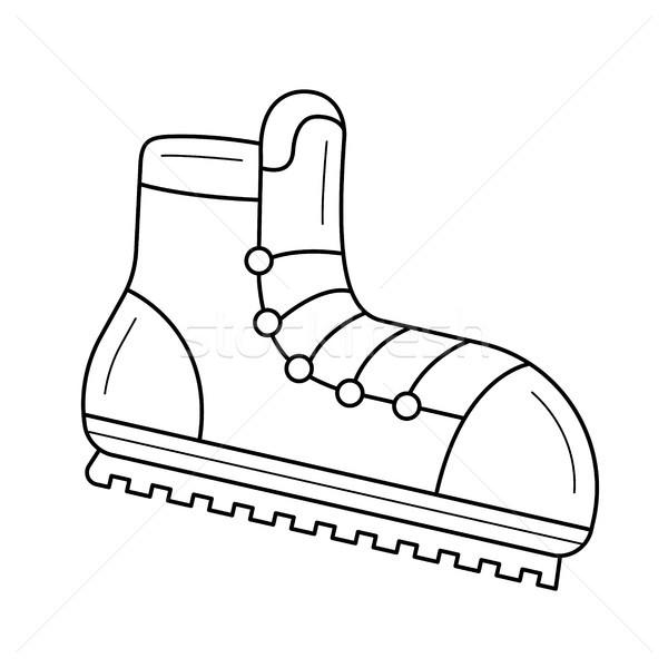 Montañismo botas línea icono vector aislado Foto stock © RAStudio