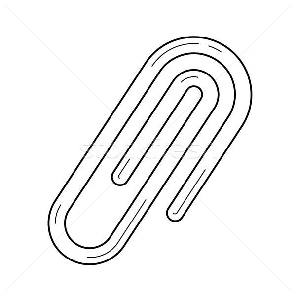 Csatolmány vonal ikon vektor izolált fehér Stock fotó © RAStudio