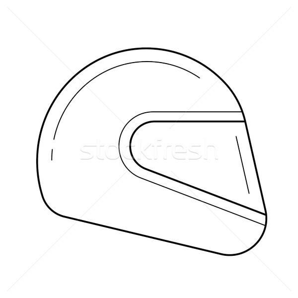Moto kask hat ikon vektör yalıtılmış Stok fotoğraf © RAStudio