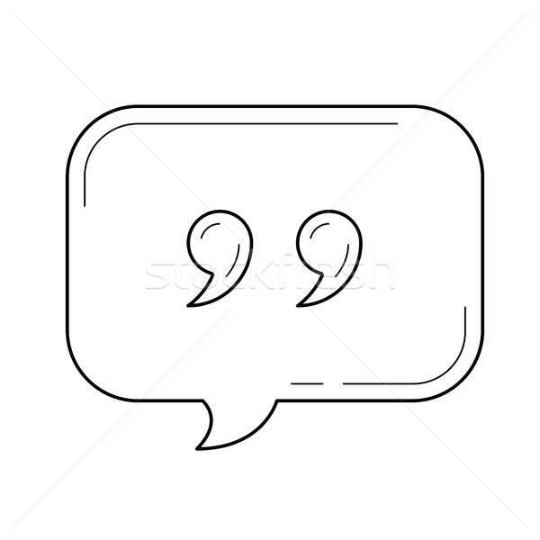 Speach bubble vector line icon. Stock photo © RAStudio