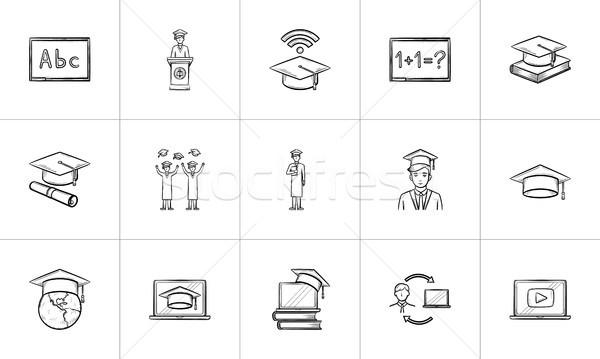 образование рисованной эскиз болван Сток-фото © RAStudio
