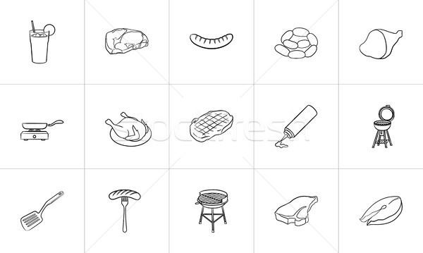 Food and drink hand drawn sketch icon set. Stock photo © RAStudio