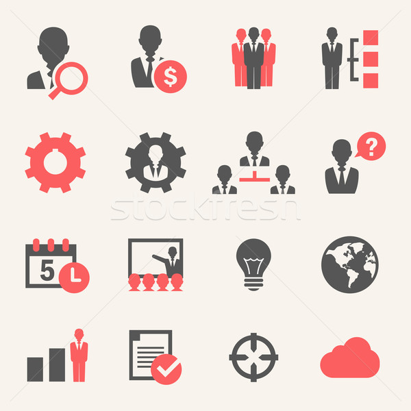 Internet Business. Icon set Stock photo © RAStudio