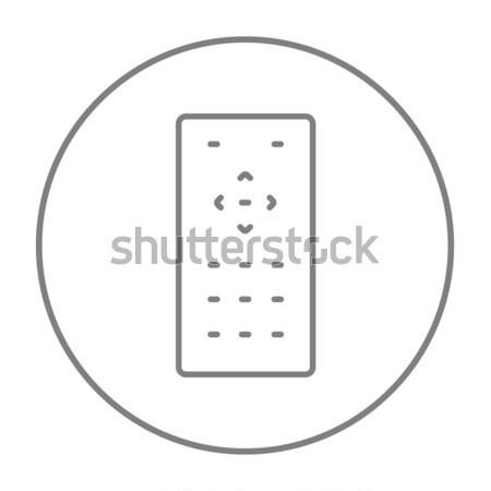 Afstandsbediening dun lijn icon web mobiele Stockfoto © RAStudio