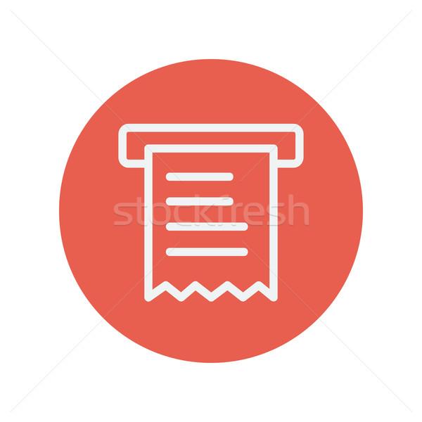 Kağıt havlu ince hat ikon web hareketli Stok fotoğraf © RAStudio
