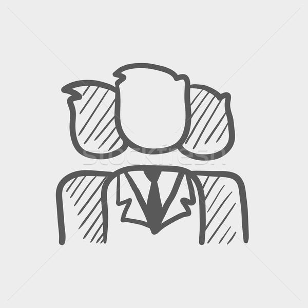 Group of businessmen sketch icon Stock photo © RAStudio