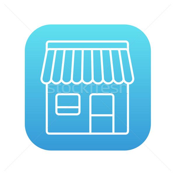 магазин линия икона веб мобильных Инфографика Сток-фото © RAStudio