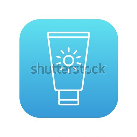 Sunscreen line icon. Stock photo © RAStudio