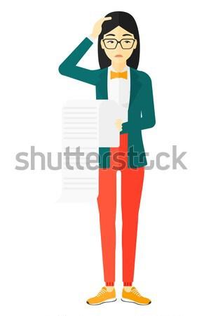 Woman choosing between book and tablet. Stock photo © RAStudio