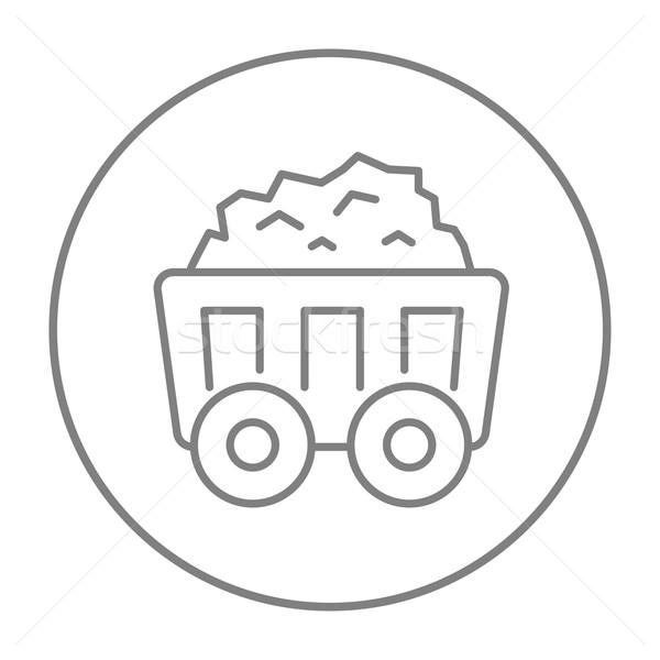 Madencilik kömür araba hat ikon web Stok fotoğraf © RAStudio