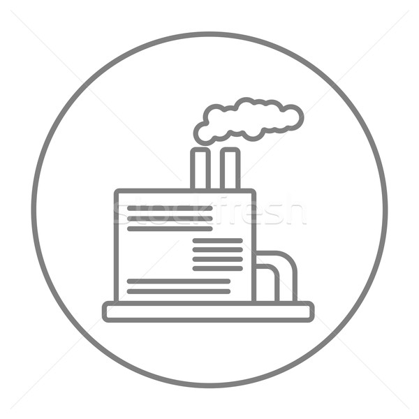 Refinery plant line icon. Stock photo © RAStudio