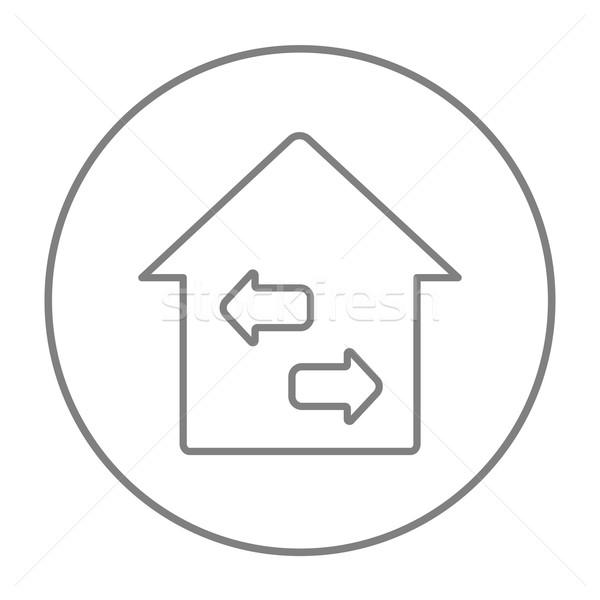 Property resale line icon. Stock photo © RAStudio