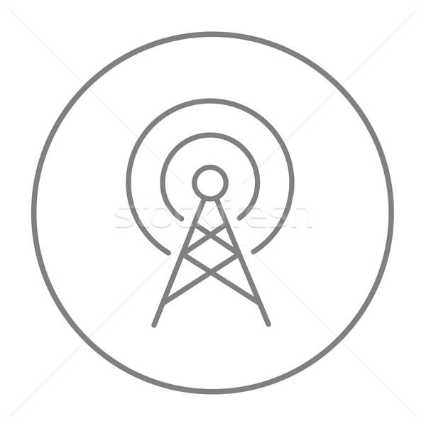 Antena linha ícone teia móvel infográficos Foto stock © RAStudio