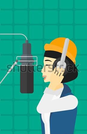 Singer making record.  Stock photo © RAStudio