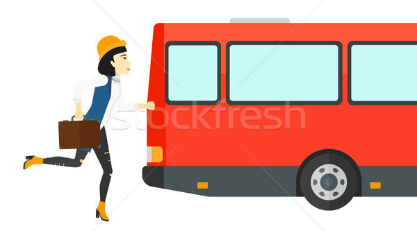 Woman missing bus. Stock photo © RAStudio