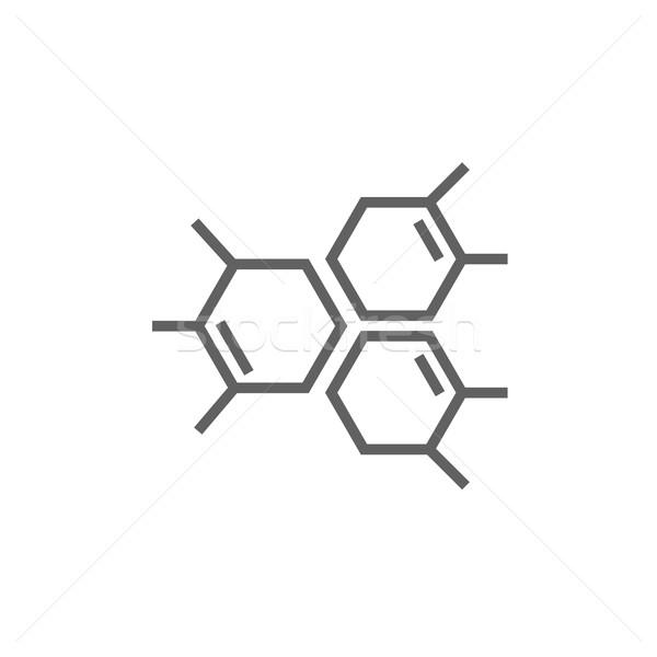 Químicos fórmula línea icono esquinas web Foto stock © RAStudio