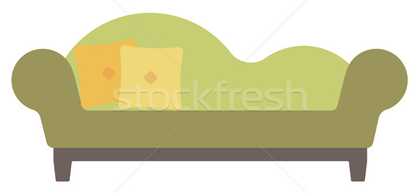 Green chaise lounge with pillows. Stock photo © RAStudio